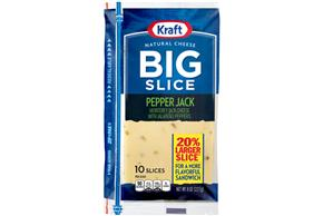 Kraft Big Slice Pepper Jack Slices - 10Ct