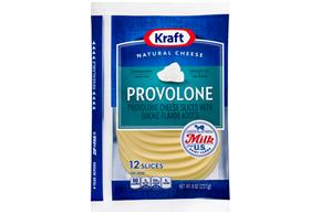 Kraft Provolone Cheese Natural Cheese Slices  8 Oz Film Wrapped (12 Slices)