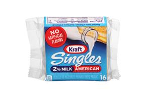 Kraft Singles 2% Milk Reduced Fat American Cheese Slices 10.7 Oz Wrapped (16 Slices)