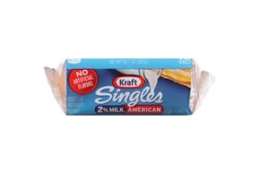 Kraft Singles 2% Milk Reduced Fat American Cheese Slices 10.7 Oz Package (16 Slices)