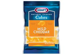 Kraft Natural Mild Cheddar Cheese Cubes - 6.4Oz