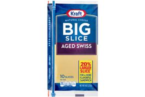 Kraft Big Slice Aged Swiss Slices - 10Ct