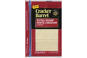 Kraft Cracker Barrel(R) Cheddar Extra Sharp White 11 Ct Cheese Slices 7 Oz Zip Pak