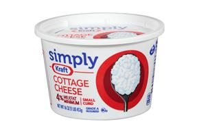 Simply Kraft Small Curd 4% Milkfat Minimum Cottage Cheese 16 Oz. Tub
