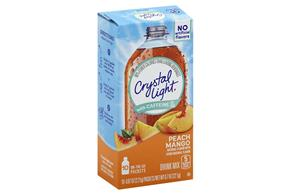 Crystal Light with Caffeine Peach Mango On the Go Drink Mix 10-0.07 oz. Packets