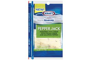 Kraft(R) Pepper Jack Cheese With A Touch Of Philadelphia Cream Cheese 10 Slices