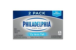 Philadelphia 16 Oz Cream Cheese-Brick 1/3 Less Fat      2 Multipack Inner Pack