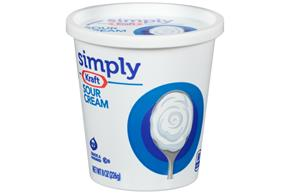 Simply Kraft Sour Cream 8 Oz. Cup
