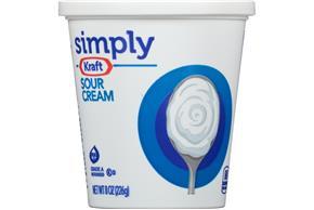 Simply Kraft Sour Cream 8 Oz. Cup