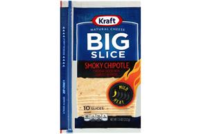 Kraft Natural Cheese Big Slice Smoky Chipotle Cheddar Cheese Slices 10 Ct Zip-Pak(R)