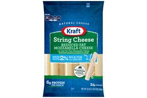 Kraft Reduced Fat String Cheese 20 Oz (24 Count)