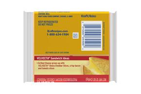 Velveeta Slices Sharp Cheddar Cheese 16 Ct Pack