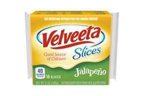 Velveeta Slices Jalapeno Cheese 16 Ct Pack