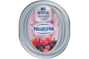 Philadelphia Mixed Berry Cream Cheese-Whipped 7.5 Oz Tub