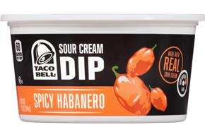 Taco Bell(R) Spicy Habanero Sour Cream Dip 12 oz. Tub