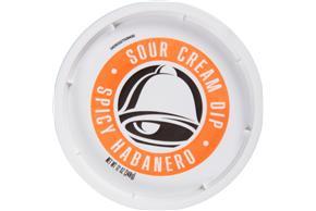 Taco Bell(R) Spicy Habanero Sour Cream Dip 12 oz. Tub