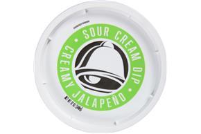 Taco Bell(R) Creamy Jalapeno Sour Cream Dip 12 oz. Tub