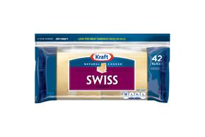 Kraft Natural Swiss Cheese Slices 42 Ct Zip-Pak(R)