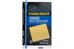 Cracker Barrel(R) Asiago Fresh Cheese Slices 11 Ct Zip-Pak(R)