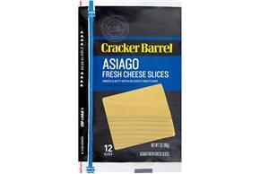Cracker Barrel(R) Asiago Fresh Cheese Slices 11 Ct Zip-Pak(R)