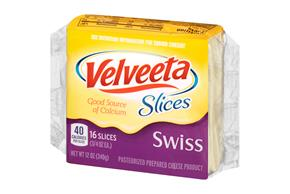 Velveeta Slices Swiss Cheese 16 Ct Pack