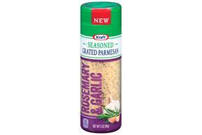 Kraft Rosemary & Garlic Seasoned Grated Parmesan Cheese 3 Oz. Shaker