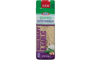 Kraft Rosemary & Garlic Seasoned Grated Parmesan Cheese 3 Oz. Shaker