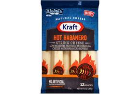 Kraft Hot Habanero String Cheese - 12Ct