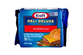 Kraft Deli Deluxe American Cheese Slices 16 Ct Pack