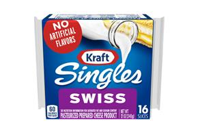 Kraft Singles Swiss Cheese Slices 16 Ct Pack