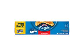 Kraft Singles American Cheese Slices Twin Pack 32 Ct Pack