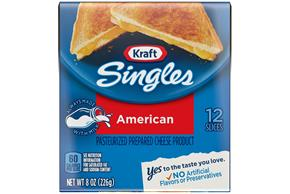 Kraft Singles American Cheese Slices 12 Ct Pack