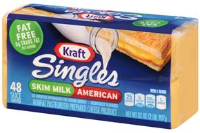 Kraft Singles Skim Milk American Cheese Slices 48 Ct Box