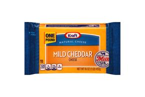 Kraft Mild Cheddar Natural Cheese Block 16 Oz Vacuum Packed