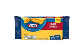Kraft Natural Sharp Cheddar Cheese - 16Oz