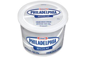 Kraft Philadelphia Regular Cream Cheese Spread 48 Oz Plastic Tub