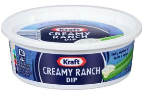 Kraft Dips Creamy Ranch Dip 8 Oz Tub