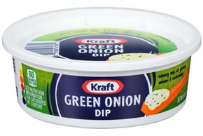 Kraft Dips Green Onion Dip 8 Oz Tub