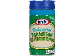 Kraft Reduced Fat Parmesan Style Grated Topping 8 Oz. Shaker