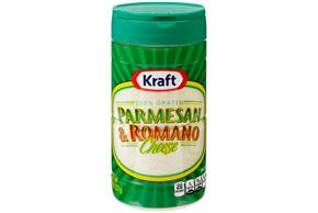 Kraft 100% Grated Parmesan & Romano Cheese 8 Oz. Shaker