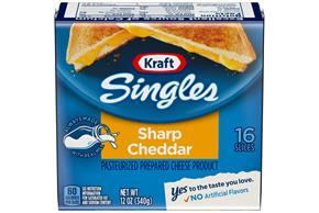 Kraft Singles Cheddar Sharp Cheese Slices 12 Oz Wrapped (16 Slices)