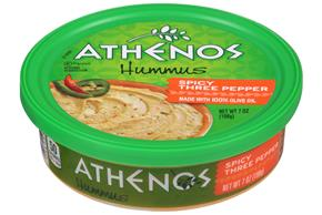 Athenos Spicy Three Pepper Hummus 7 oz. Tub