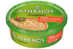 Athenos Spicy Three Pepper Hummus 14 oz. Tub
