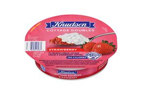 Knudsen Cottage Cheese Doubles - Strawberry 3.9 Oz Tray