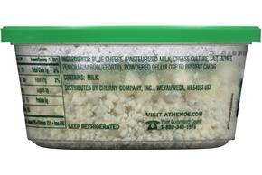 Athenos Crumbled Blue Cheese 4.5 Oz. Tub