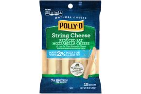 Polly-O 2% Milk Reduced Fat Mozzarella String Cheese 20 Oz Bag (12 Count)