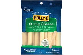 Polly-O Mozzarella String Cheese 24 Oz Bag (24 Count)