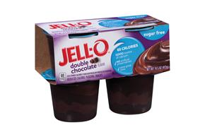 Jell-O Pudding Ready To Eat Double Chocolate Sugar Free 4 Ct Cups