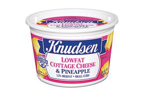 Knudsen Cottage Cheese W/Pineapple 16 Oz Tub