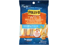 Polly-O Reduced Fat Mozzarella & Cheddar Twists - 12Ct